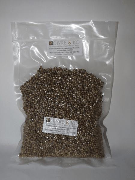 Sachet de 500 g de poivre de Kampot blanc