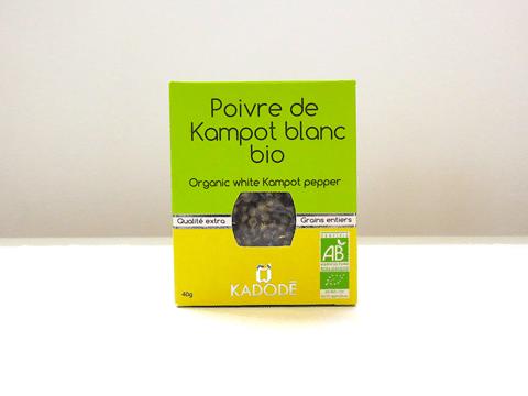 Le poivre de Kampot blanc bio certifié