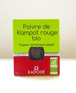Le poivre de Kampot rouge bio certifié