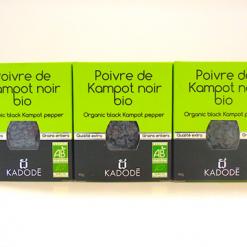 Le poivre de Kampot noir bio certifié