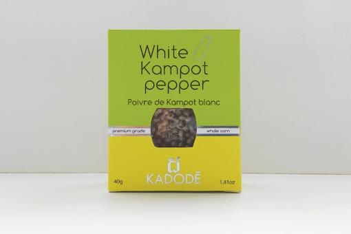 Boite poivre de Kampot blanc face nouveau packaging
