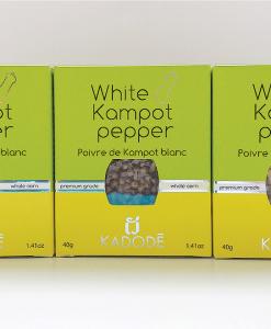 Boite poivre de Kampot blanc pack nouveau packaging