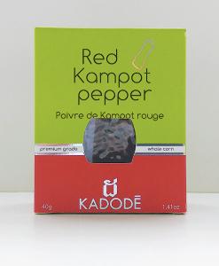 Boite poivre de Kampot rouge face nouveau packaging