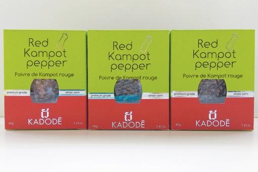 Boite poivre de Kampot rouge pack nouveau packaging