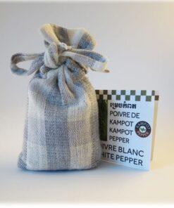 Sachet Krama de 50 g de poivre de Kampot blanc